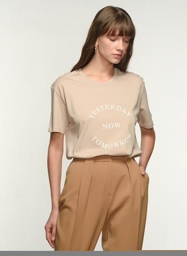 NGSTYLE NGKSS21TS0021 Baskılı Tişört Taş